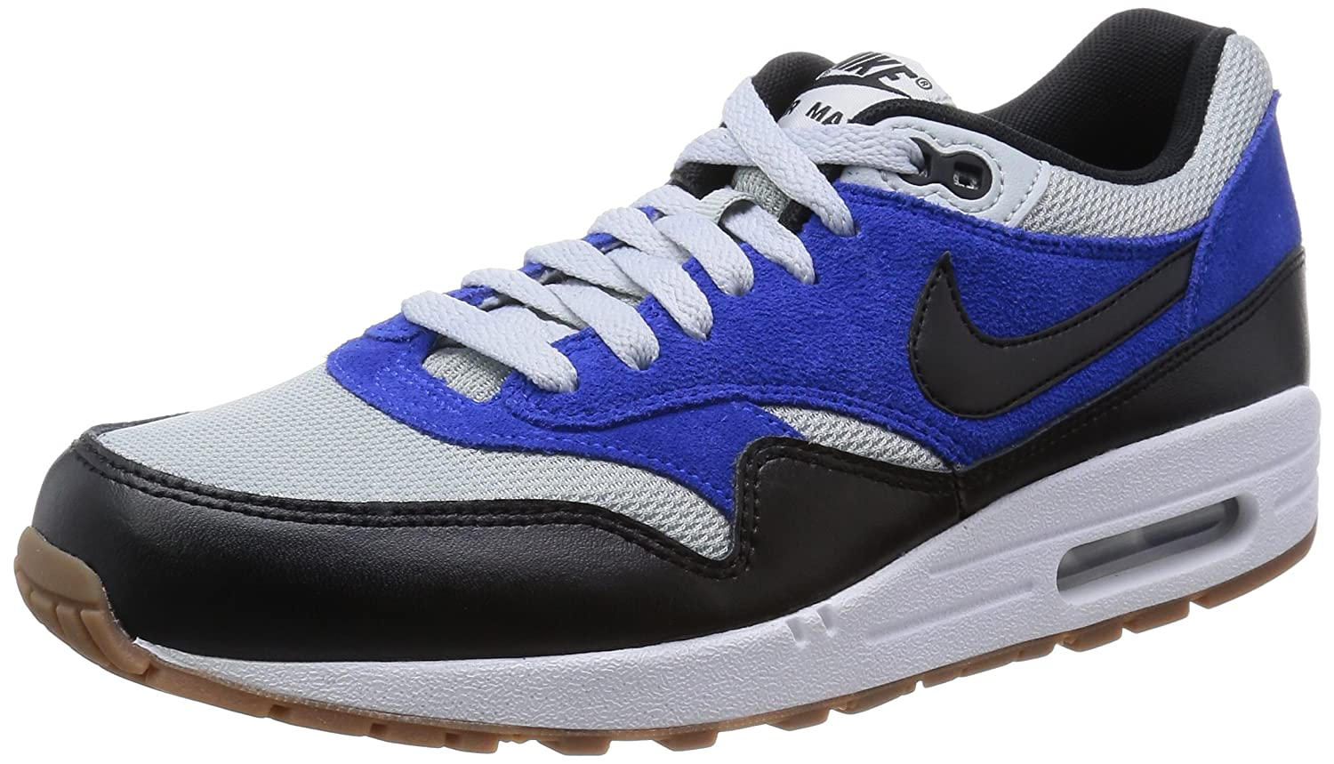 Amazon.com | Nike Men's Air Max 1 Essential Shoes, Grey Mist/Black/Lyon Blue,  10.5 | Road Running