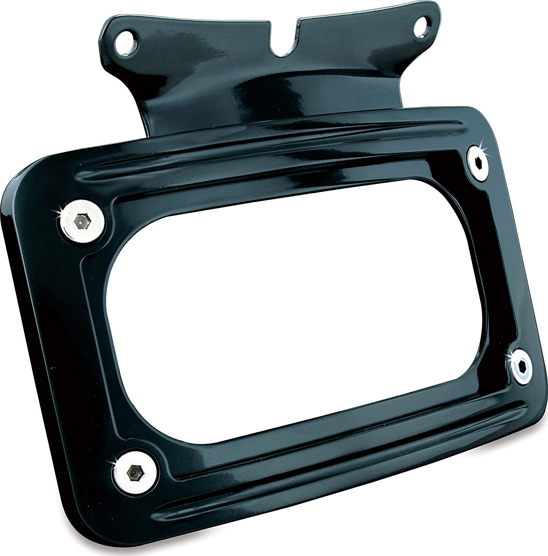 Kuryakyn 3147 Black Curved License Plate Mount