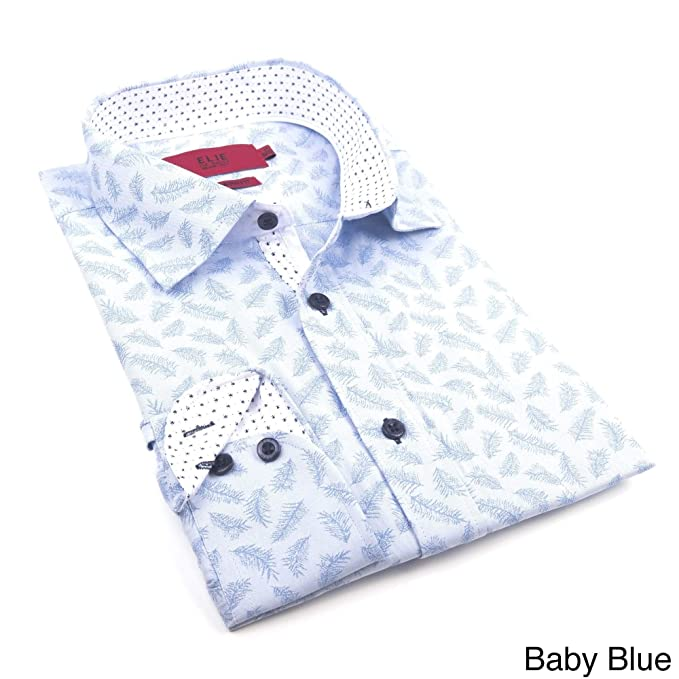 fe50cabd4 Elie Balleh Milano Italy Blue Boy's 2016 Style Slim Fit Button Down Shirt:  Amazon.ca: Clothing & Accessories