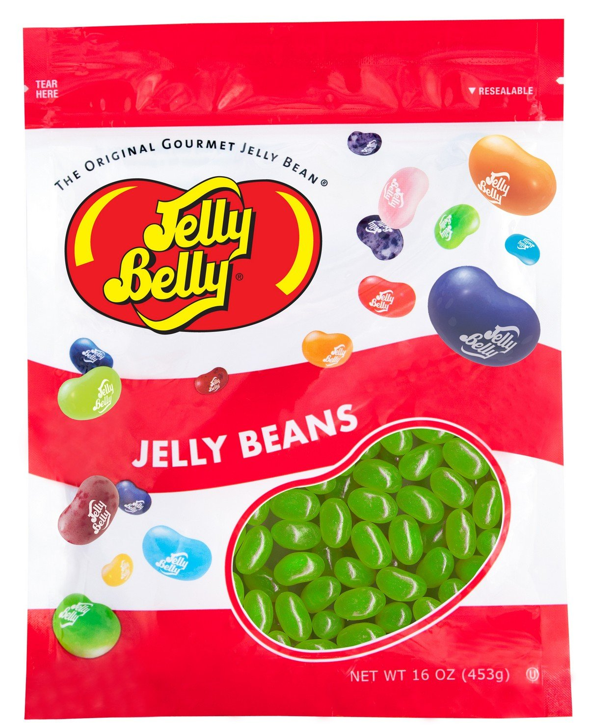 Jelly Belly Lemon Lime Jelly Beans - 1 Pound (16 Ounces) Resealable Bag - Genuine, Official, Straight from the Source