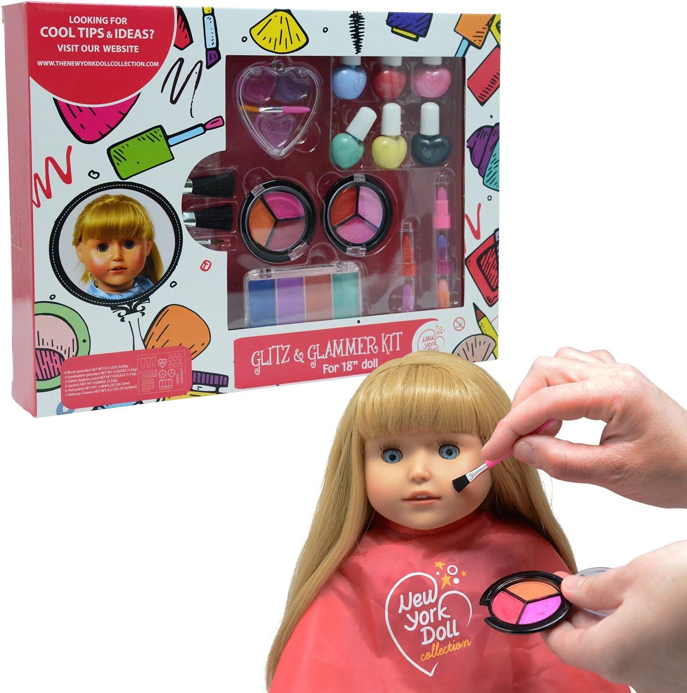 Makeup Doll Set Princess Hair Styling Head Doll Playset Beauty Pretend Play Toys