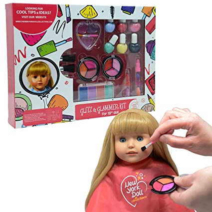 Amazon.com: Washable Makeup set for Dolls and Kids - pretend play Cosmetic Set: Toys & Games