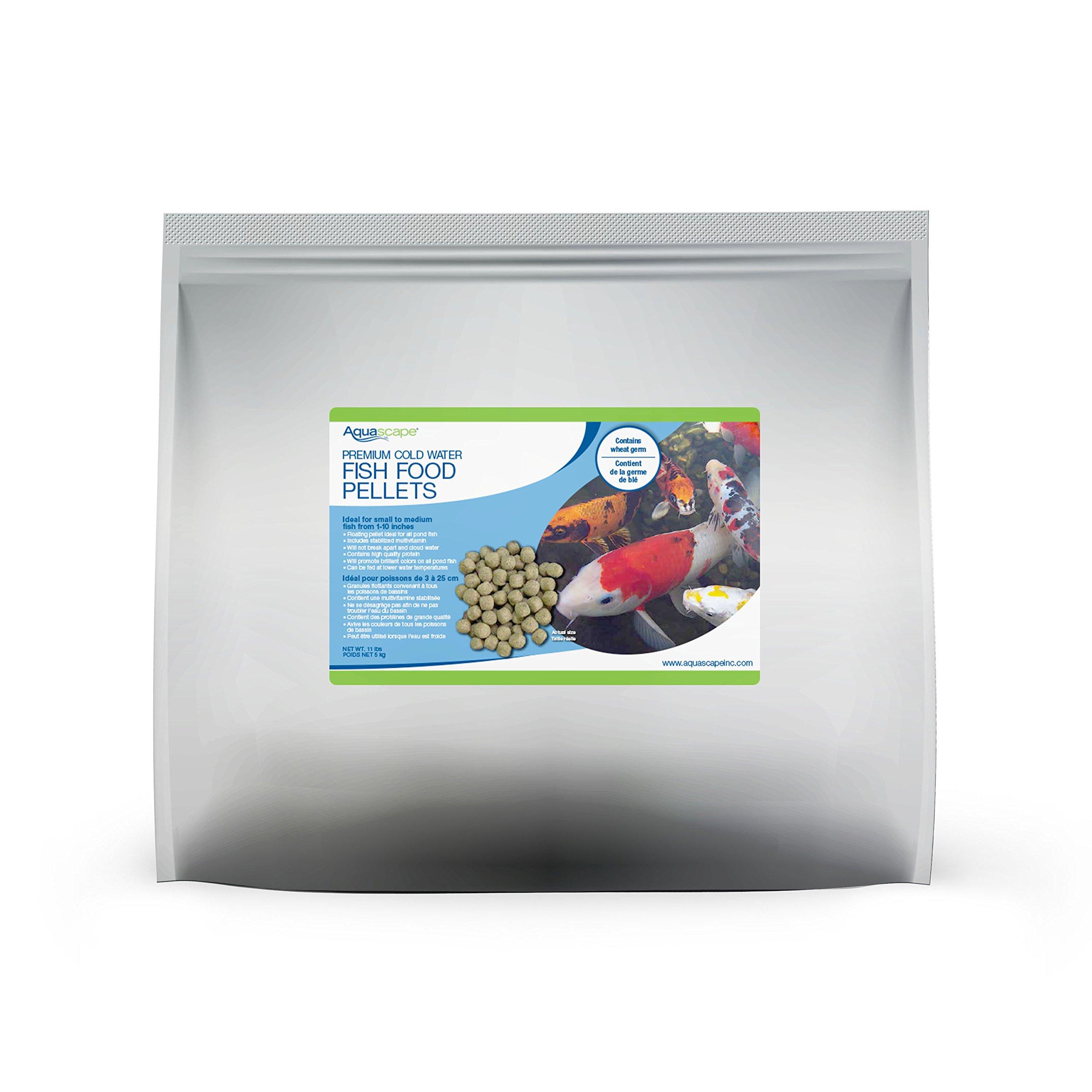 Aquascape 81047 Premium Cold Water Fish Food Pellets for Large Pond Fish, Large Pellet, 11 Pounds