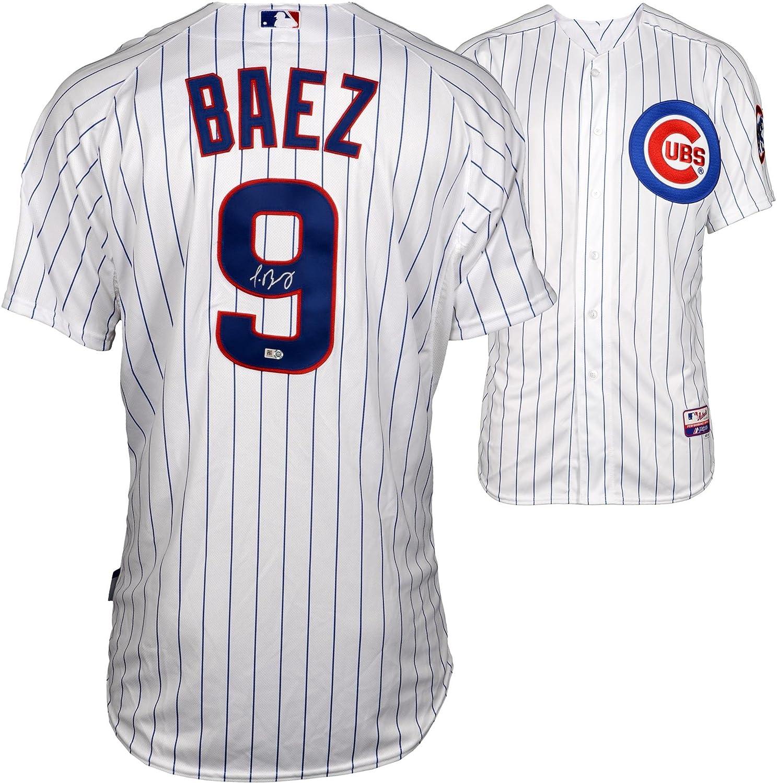 best service 95271 5a47e Javier Baez Chicago Cubs Autographed Authentic White Jersey ...