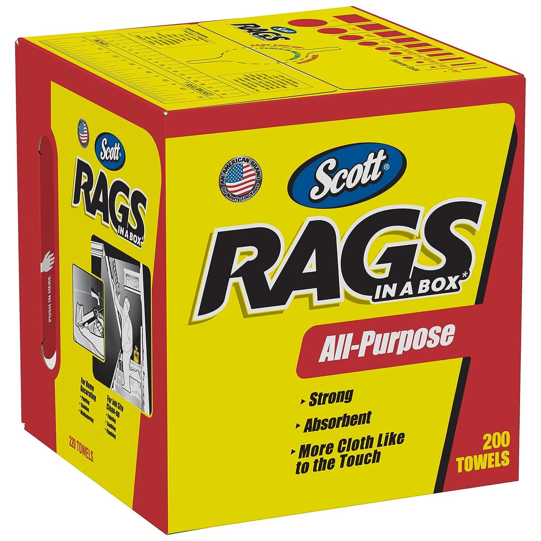 B00004TBJF Scott Rags In A Box 75260, White, 200 Shop Towels/Box, Pack of 8 81j35y6RJRL