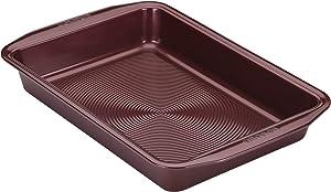 Circulon 47883 Nonstick Bakeware Baking Pan / Nonstick Cake Pan, Rectangle - 9 Inch x 13 Inch, Red