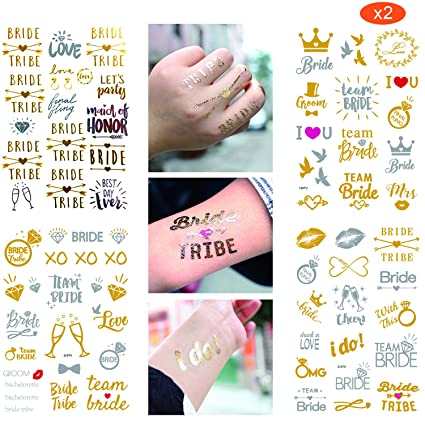 Bride Tribe tattoo Hen Party Bachelorette Party X15 1 FREE For bride 2 Be