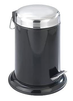 wenko 17902100 poubelle salle de bain 3 l retoro noir - Poubelle Salle De Bain Noir