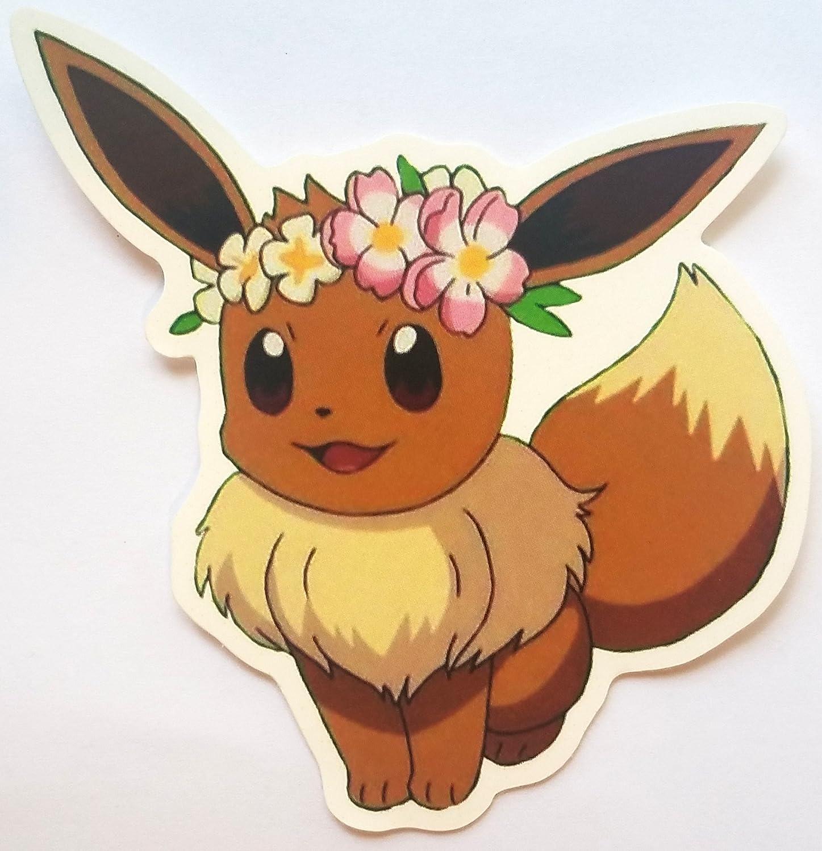 Flower Crown Eevee - Vinyl Sticker