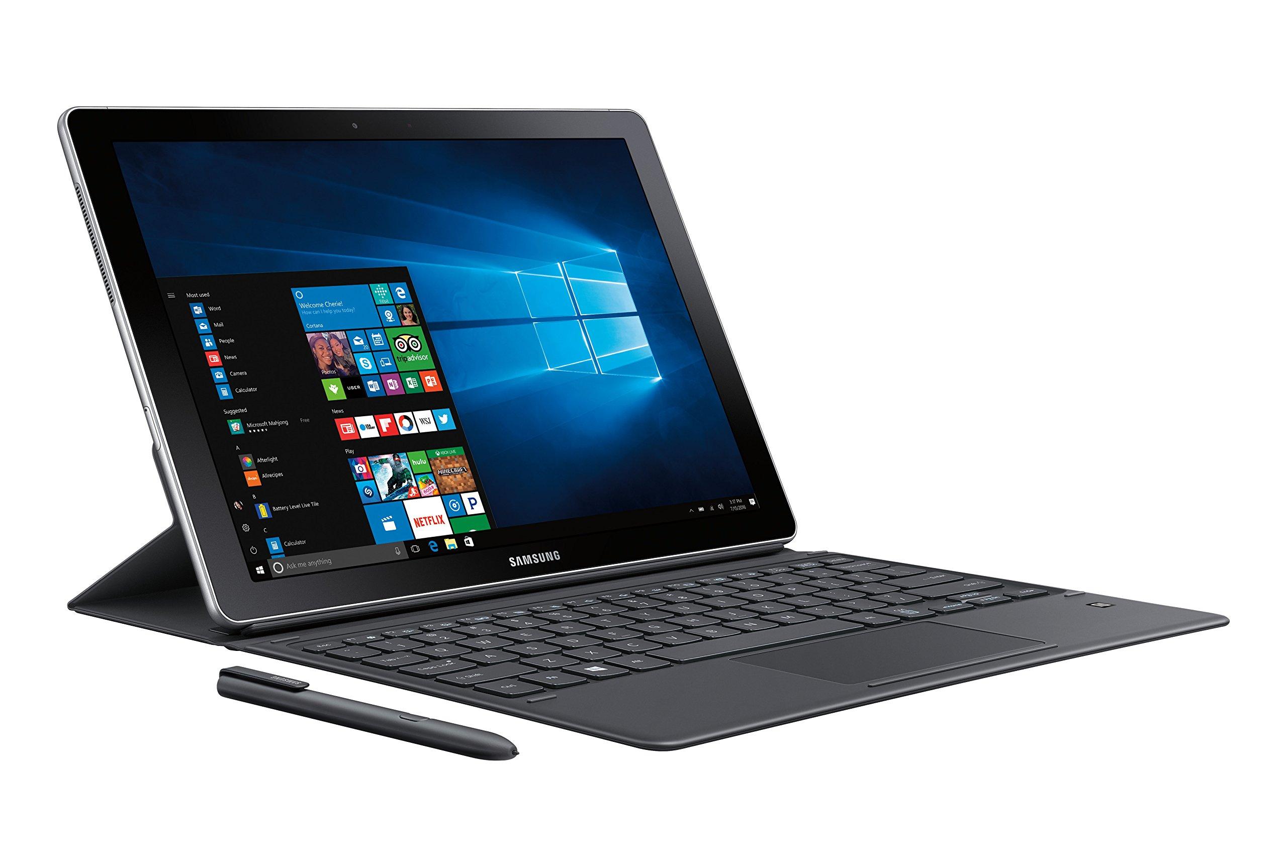 """Samsung Galaxy Book 12"""" Windows 2-in-1 PC (Wi-Fi) Silver, 8GB RAM/256GB SSD, SM-W720NZKAXAR by Samsung (Image #3)"""