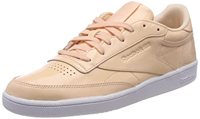 promo code 6dce2 20ffe Amazon.com | Reebok Women's Club C 85 Patent Low-Top ...