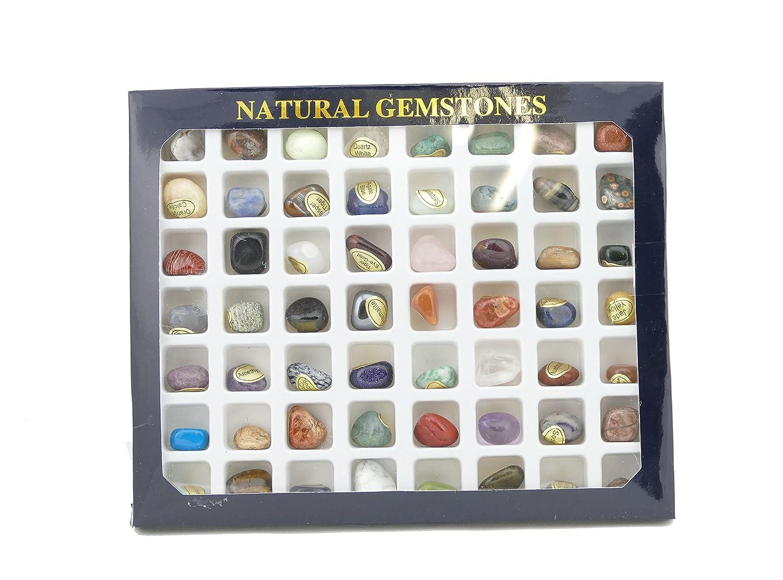 Steinset Natural Gemstones, Set mit 56 verschiedenen Edelsteinen Deutsches Mineralienmuseum 060036