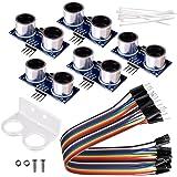 kuman 5pcs Hc-sr04 Ultrasonic Distance Measuring Sensor Module kit for Arduino UNO Mega R3 Mega2560 Duemilanove Nano Raspberry Pi 3 Robot K18