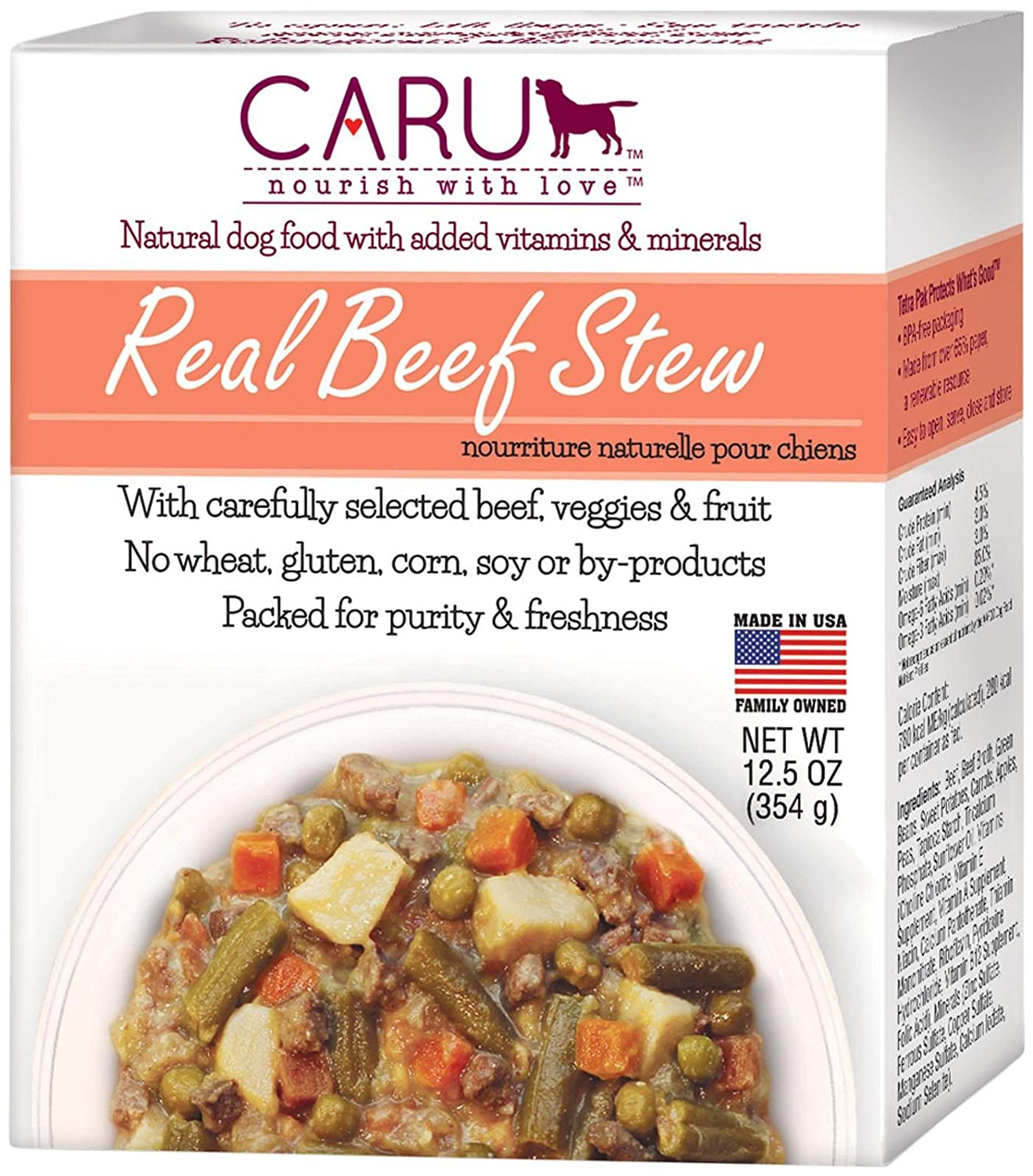 Caru Real Beef Stew Beef 12X12.5 Ounces
