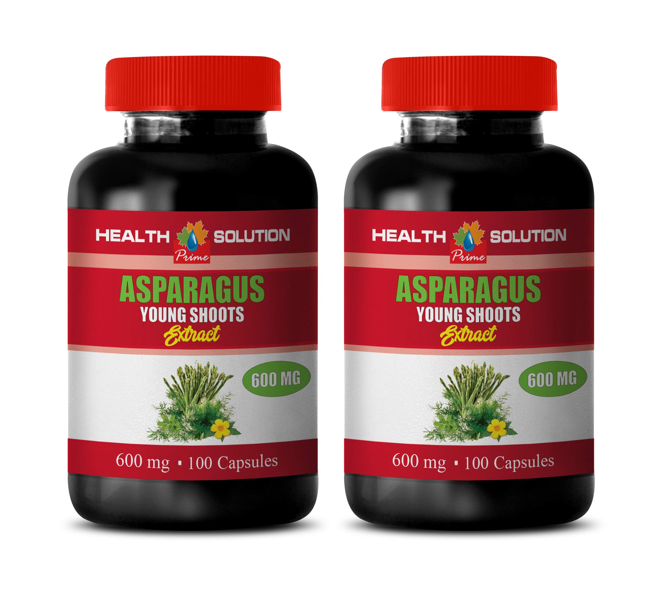 Brain Supplements for Memory and Focus - Asparagus Young Shoots Extract - antioxidant Powder Supplement - 2 Bottles 200 Capsules