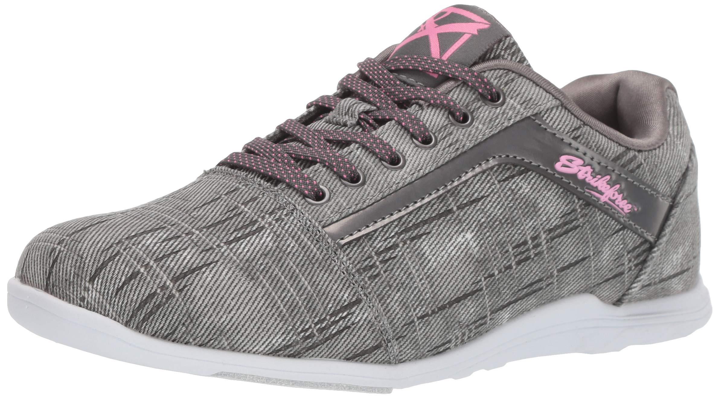 KR Strikeforce Womens Nova Lite Bowling Shoes- Ash/Hot Pink (9 M US, Ash/Hot Pink) by KR