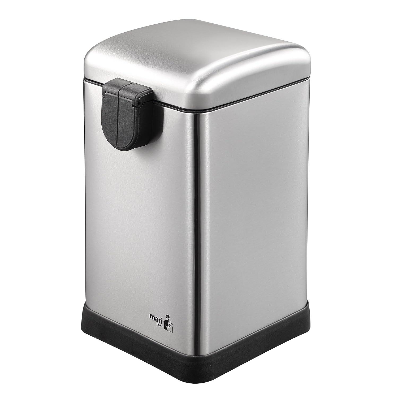 Cubo Basura 30L con Tapa Domo Ba/ño para Dormitorio Pedal y Cubo Interno Cocina Jard/ín Blanco Mari Home Contenedor de Reciclaje