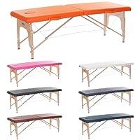 H-ROOT grande Section 2 léger Massage portative Table canapé lit socle thérapieTatoo Salon Reiki guérison Massage suédois 1 (Bleu Marine)