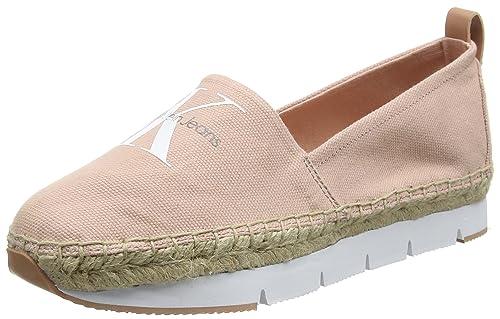 Calvin Klein Genna Canvas, Zapatillas para Mujer: Amazon.es: Zapatos y complementos
