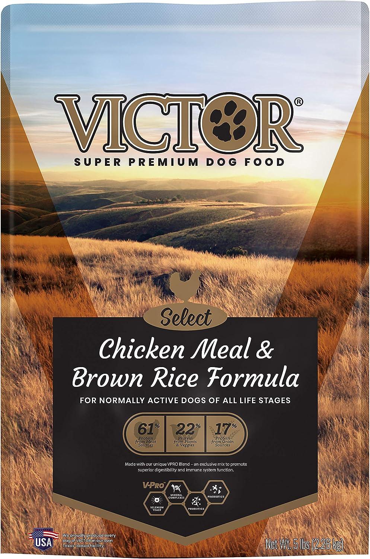 Victor Super Premium Pet Food VICTOR Select - Chicken Meal & Brown Rice Formula, Dry Dog Food, 5-Lb Bag