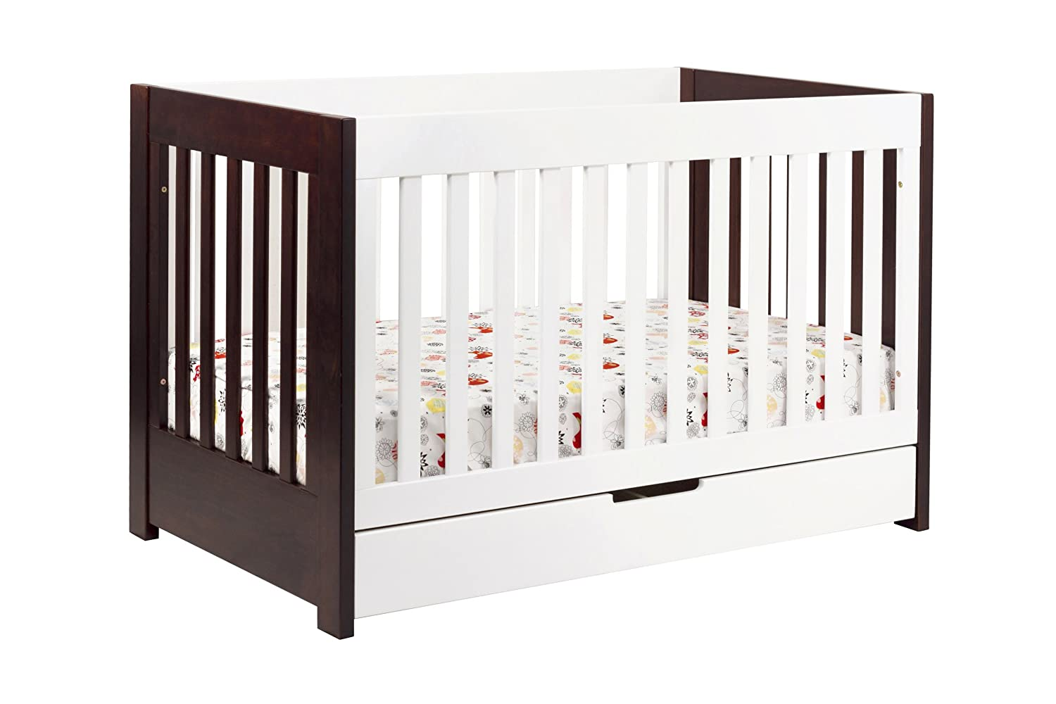 Amazon.com : Babyletto Mercer 3 In 1 Convertible Crib With Toddler Bed  Conversion Kit, Espresso / White : Baby