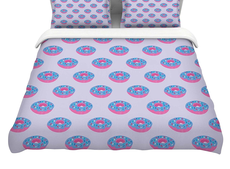 KESS InHouse Vasare NAR Pastel Doughnut Heaven King Cotton Duvet Cover 104 x 88 104 x 88