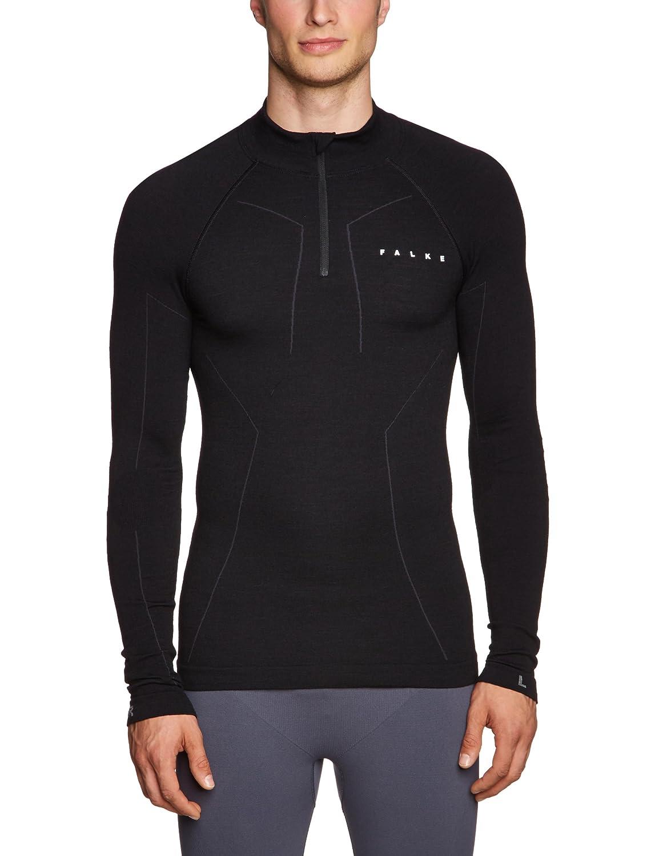FALKE Herren Skiunterwäsche Skiing Wool Tec Longsleeved Shirt Zip