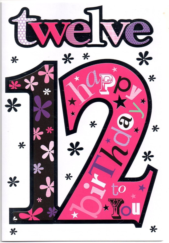 Geburtstagskarte für ein 12 Jahre altes Mädchen: Amazon.de ...