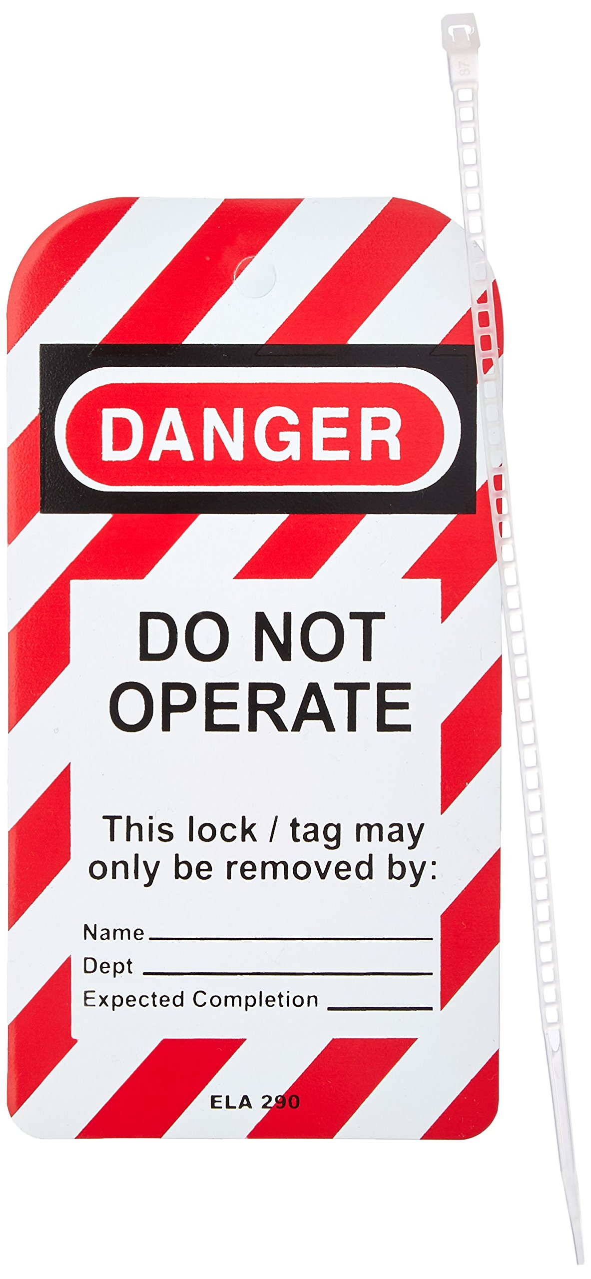 Honeywell ELA290/1 Lockout Tag, ''Do Not Operate'', 3'' x 5-3/4'' (Pack of 25)