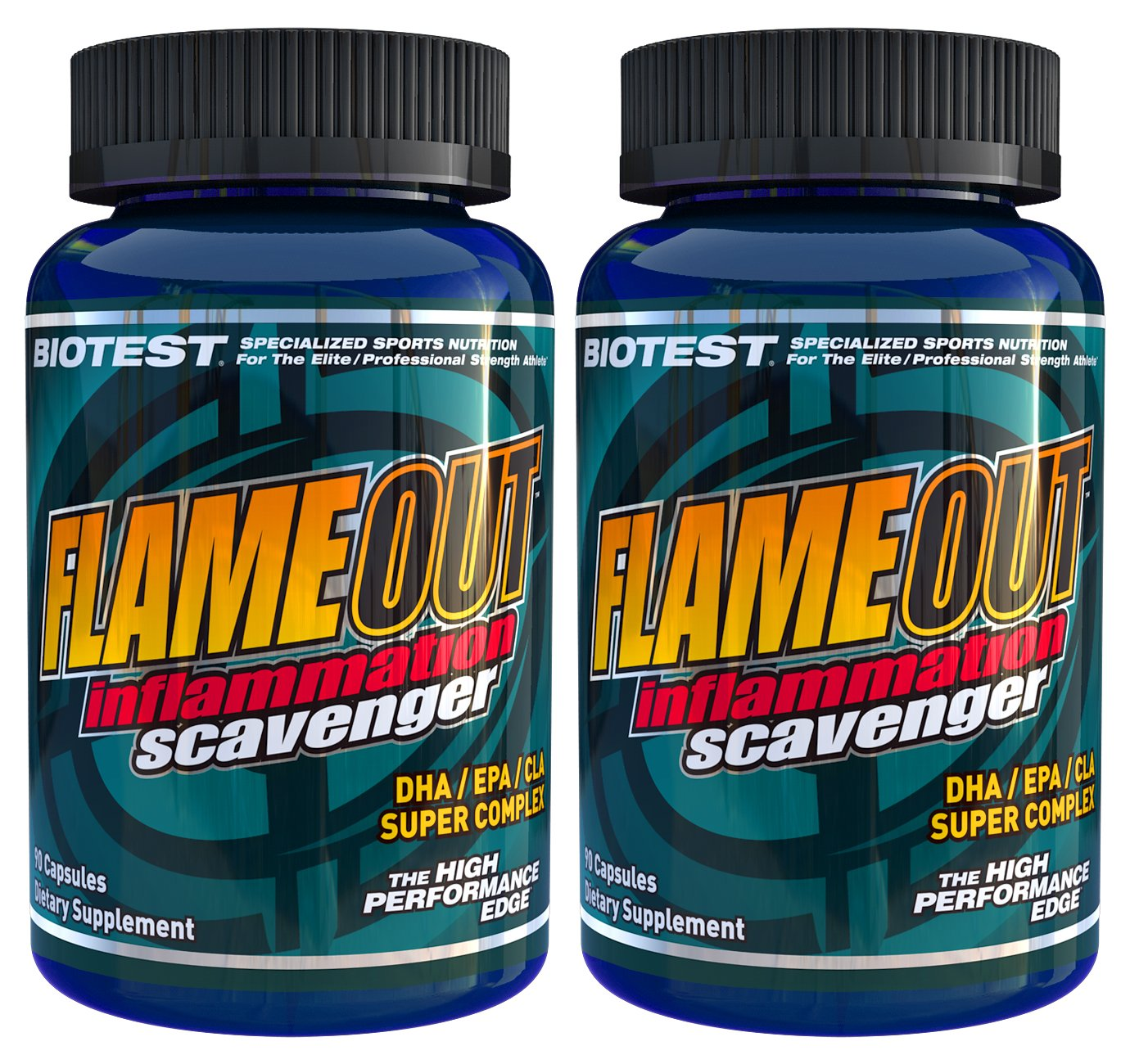 Flameout® Omega-3 Fish Oil, 2 Pack (180 Softgels) by Biotest (Image #1)