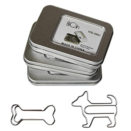 HiQin Paper Clips Dog Loves Bone Bookmark 3 Boxes