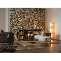 Deals on Komar Stone Wall Huge Mural 12-ft x 8-ft 4-inch