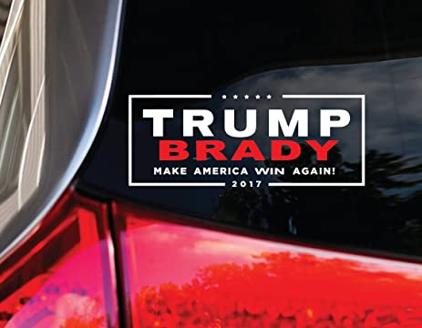 Amazoncom TRUMP BRADY CAR DECAL Super Bowl - How to make car decals at home