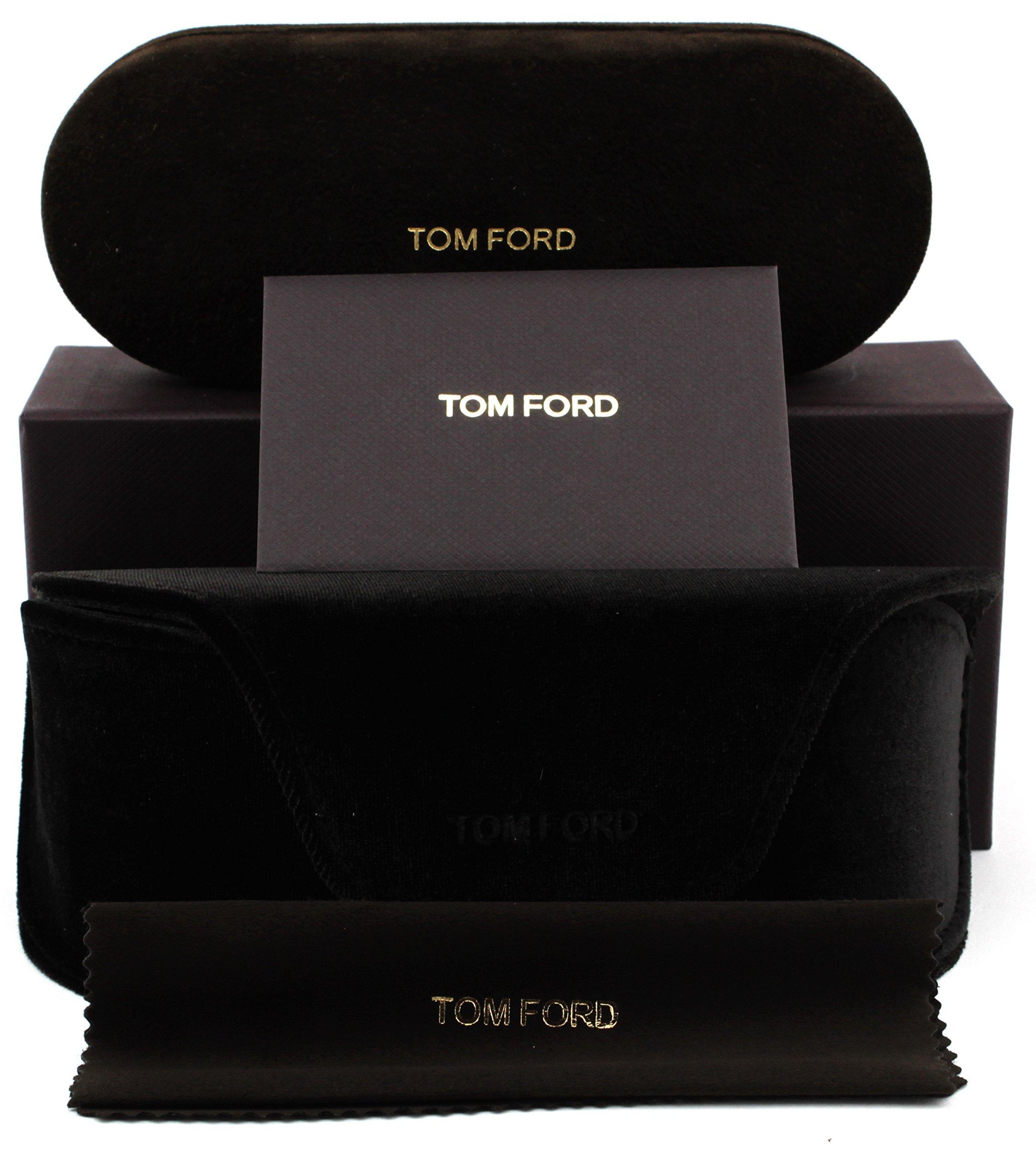 Tom Ford FT 0453 Johnson Unisex Metal Geometric Sunglasses (Blonde Havana Frame, Gradient Brown Lens 53F) by Tom Ford (Image #4)
