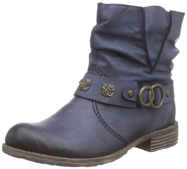 Rieker74798 - botas Mujer39 EU|Azul - Blau (Ozean / 14)