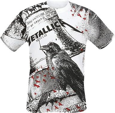 Metallica Bell Tolls Hombre Camiseta Blanco, Regular: Amazon.es: Ropa y accesorios