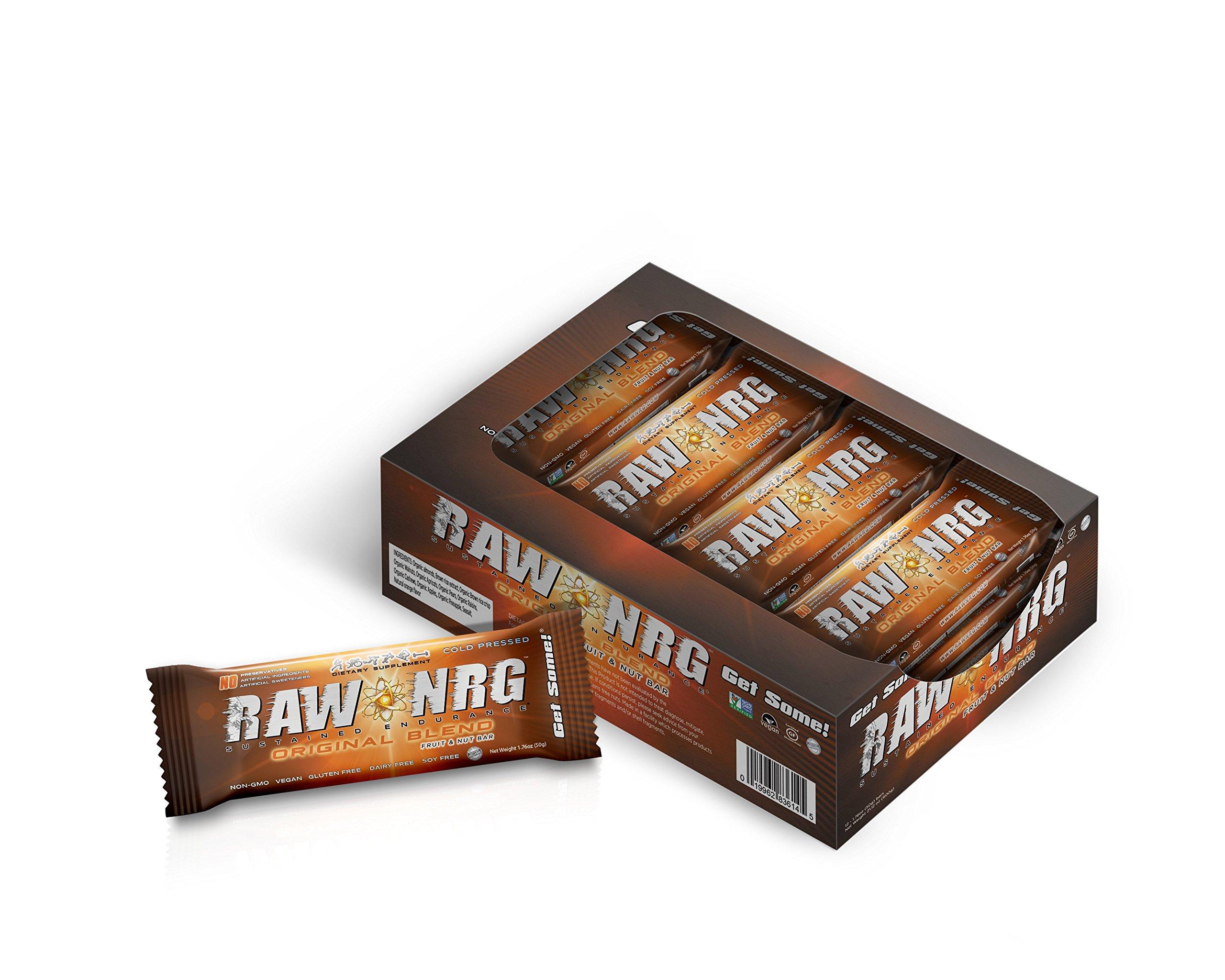 RAW NRG® - Original Fruit & Nut Blend // Nutrition Bar (12 Count)