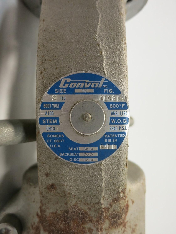 CONVAL 11G2DJ Steel Socket Weld 2IN 900 Globe Valve 2945PSI D599976