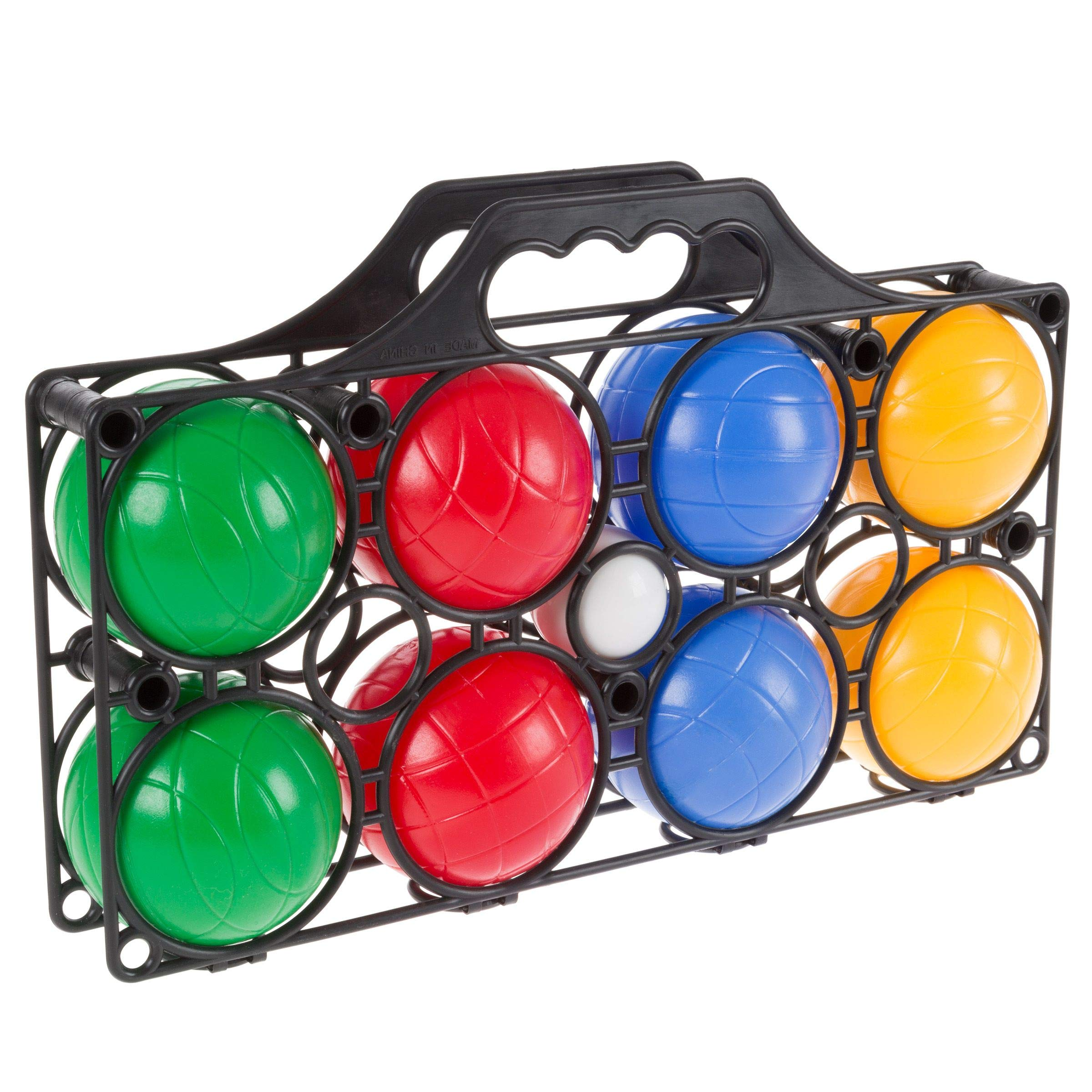 Aromzen Beginner Bocce Ball Set with 8 Colorful Bocce Balls, Pallino and Carrying Case- Classic Outdoor Game for Kids, Adults and Family