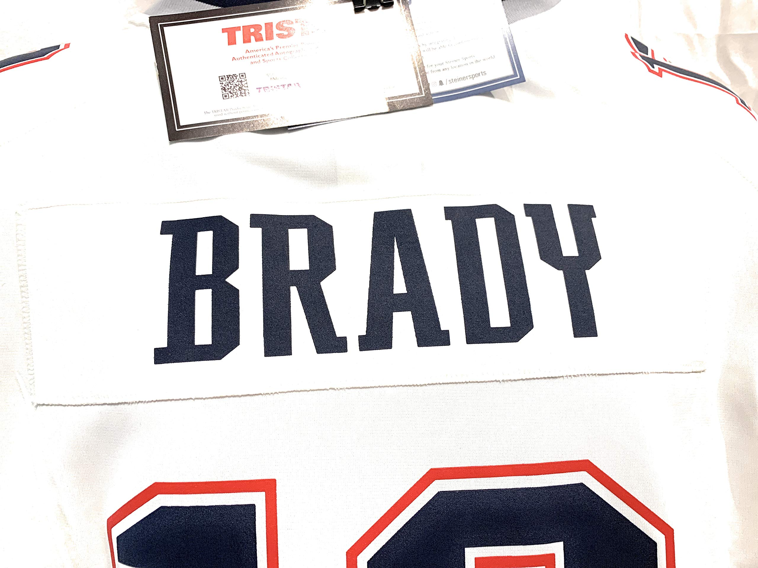 Tom Brady New England Patriots Signed Autograph Nike Replica White Jersey #2 Tristar Authentic & Steiner Sports Dual Certified