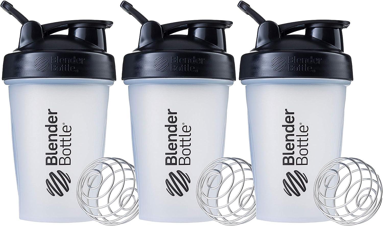 Blender Bottle Classic V1 Multipack Shaker Bottle, 20-Ounce, Clear/Black
