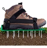 Ohuhu Lawn Aerator Shoes with Hook & Loop Straps, All New Unique Design Free-Installation Heavy Duty Spiked Aerating…