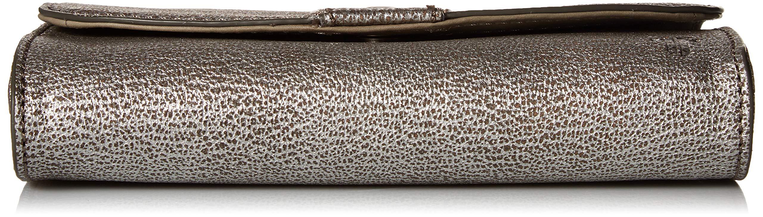 FRYE Melissa Wallet Crossbody Clutch Leather Bag, silver by FRYE (Image #4)