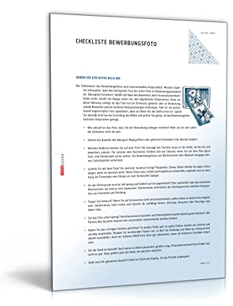 Bewerbungsfoto Checkliste Pdf Download Amazonde Software