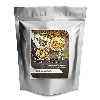 nurafit bio Coco Flores Azúcar, Azúcar Natural para certificados de punta | con alto contenido