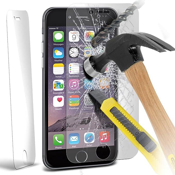 Apple Iphone 6 Plus 5.5 Inch Pack Of 3 Templado superior de cristal Crystal Clear LCD Protectores de pantalla Packs Con paño de pulido y Tarjeta de aplicación por ONX3: Amazon.es: Electrónica