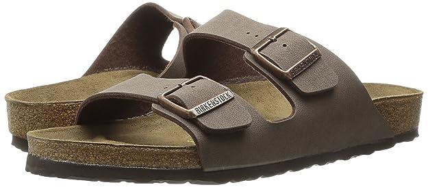 Birkenstock Mens Arizona Slide Fashion Sandals Mocha Leather 46 N