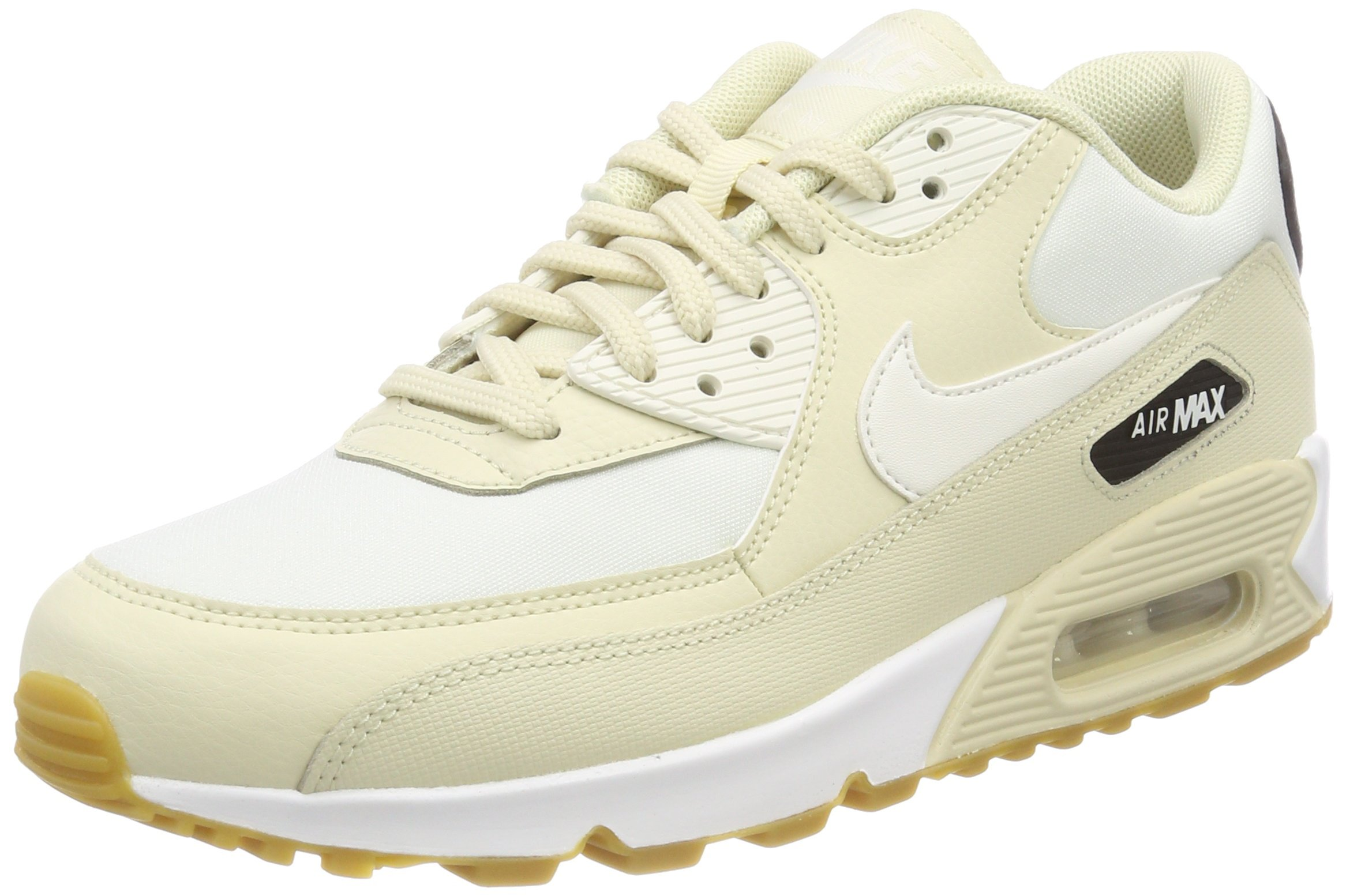 check out a62e8 38c2d Galleon - Nike Women s WMNS Air Max 90 325213-207 Trainers, Beige  (Fossil Sail-Black-Gum Light Brown 325213-207), 3 UK 36 EU