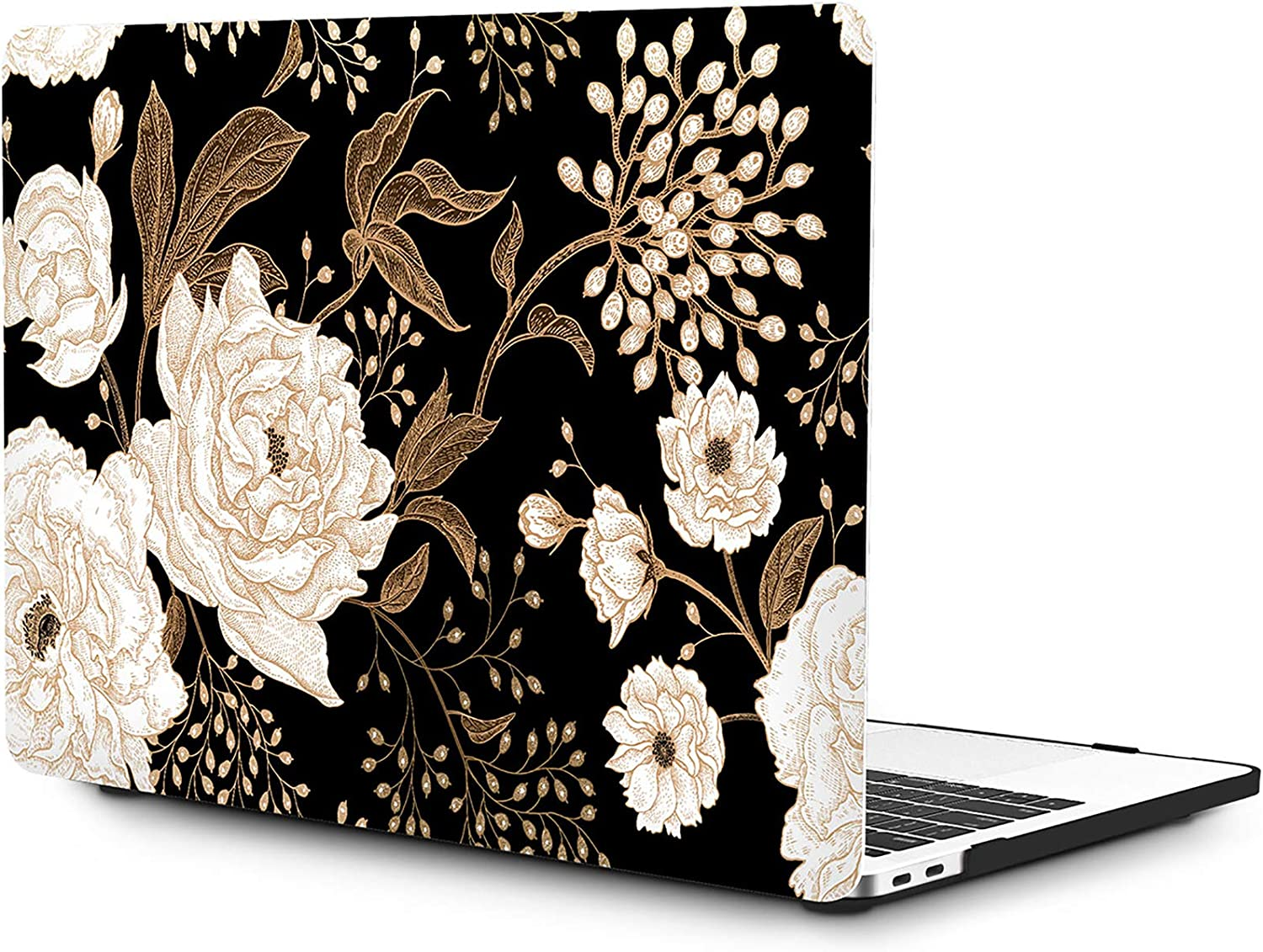 OneGET MacBook Pro 13 Inch Case with Touch Bar Laptop Case MacBook Pro 13 Inch 2016-2019 Release A2159 A1989 A1706 A1708 MacBook Pro Cover for MacBook Pro 13 Inches Hard Shell Flowers (F38)