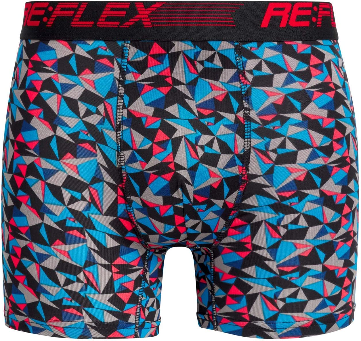 Re:Flex Mens Compression Performance Boxer Briefs Underwear 3 Pack